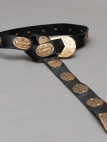 Medieval Armor Belt With Etched Brass Accents