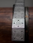 Medieval Armor Knight Belt with etched steel accents