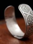 Medieval etched stainless bracelet