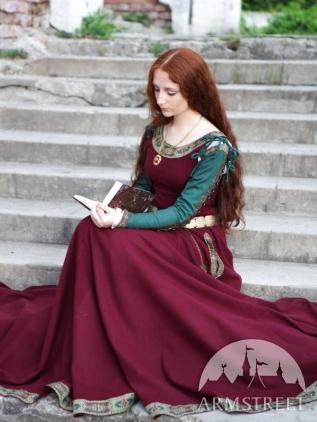 InLana Abito verdiDisponibile maniche medievale donna da Avorio kuwXZiTPO