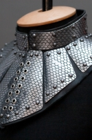 Fantasy stainless etched armor gorget