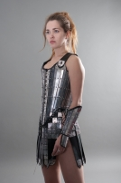 Fantasy armor corset breastplate etched stainless