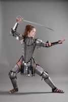 Fantasy Lady Warrior armor legs set